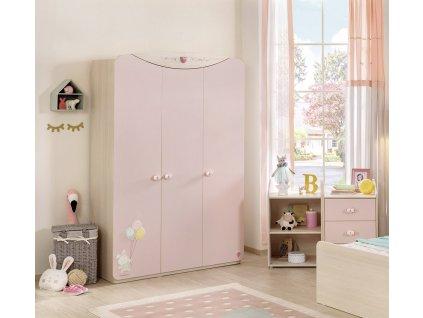 Dětská skříň pro miminko třídveřová Baby Girl