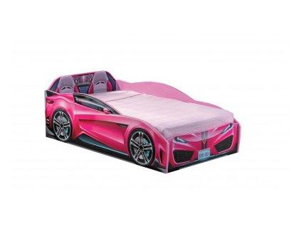 detska postel auto ruzova