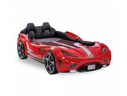 Dětská postel auto 100x190 cm GTS červená