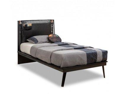 Studentská postel Line 100x200 cm Dark Metal