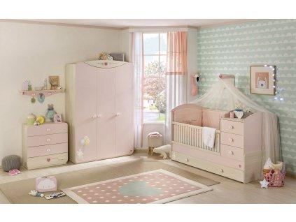 Růžový pokojíček pro miminko Baby Girl