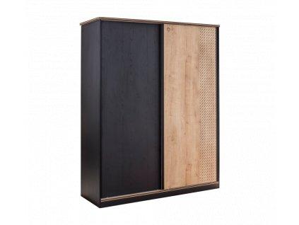 Studentská skříň s posuvnými dveřmi Black