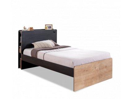 Studentská postel 120x200 cm Black
