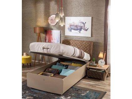 Studentská postel s úložným prostorem vyklápěcí 100x200 cm Lofter