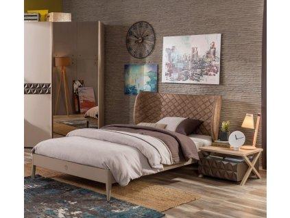 Studentská postel 120x200 cm Lofter