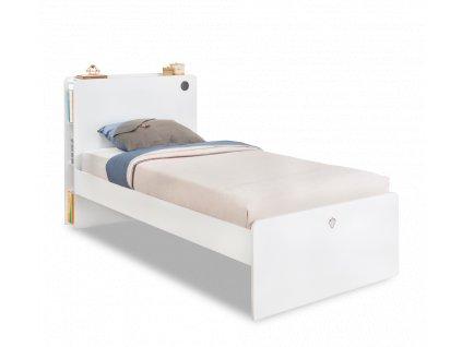 Studentská postel 120x200 cm White