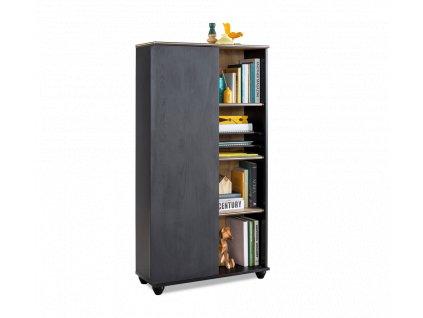 Dětská knihovna Black compact