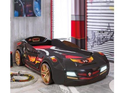 Dětská postel auto 90x195 cm BiTurbo černá