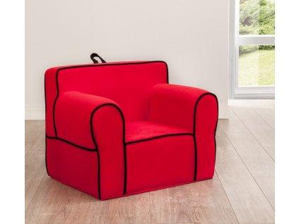 detske kreslo cervene