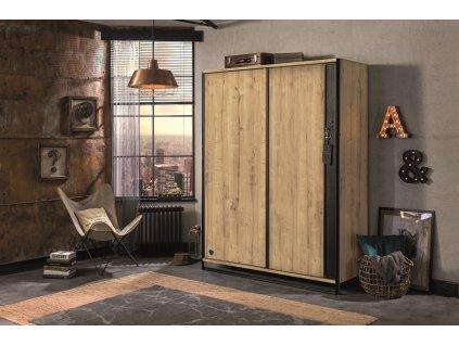 satnikova skrina s posuvnymi dverami wood metal