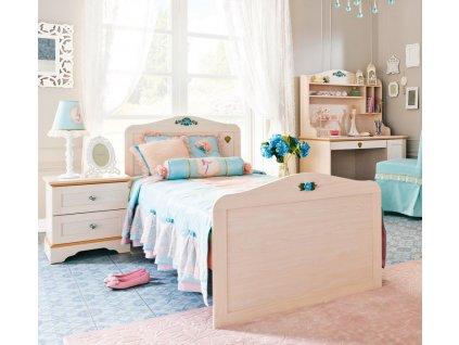 Studentská postel 90x190 cm Flower