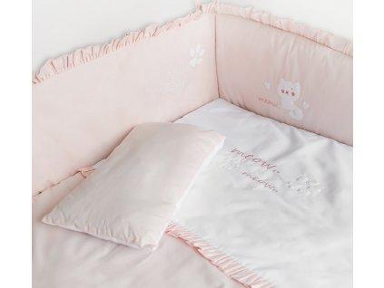 ruzovy set do postylky k posteli