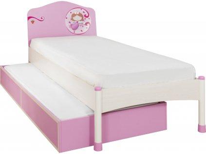 detska postel s pristylkou princess