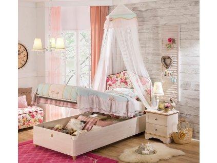 postel s uloznym prostorem 100x200cm flora