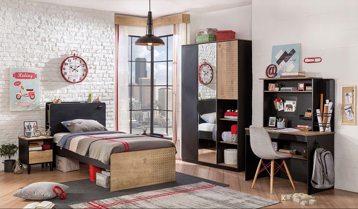 Moderný študentský nábytok Black