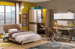 Moderný nábytok do študentskej izby Lofter