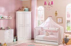Izbička pre bábätko v bielej farbe Selena Baby