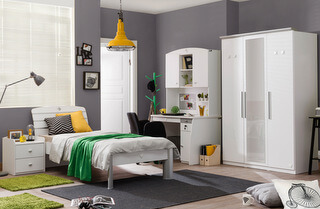 Biely nábytok do študentskej izby Active White