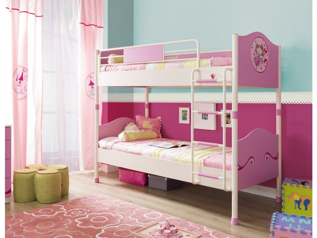 bdf28d96aa29 Detská poschodová posteľ 90x200 cm SL Princess - Hezký detský nábytok