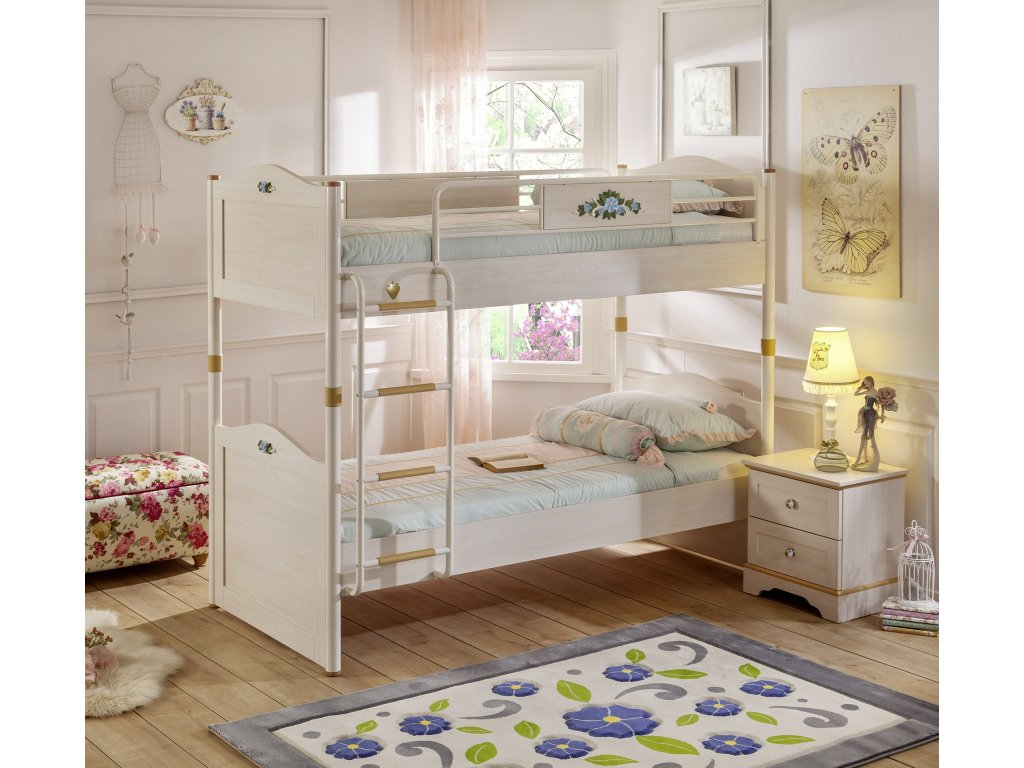 47b1f46de374 Študentská poschodová posteľ 90x200 cm Flora - Hezký detský nábytok
