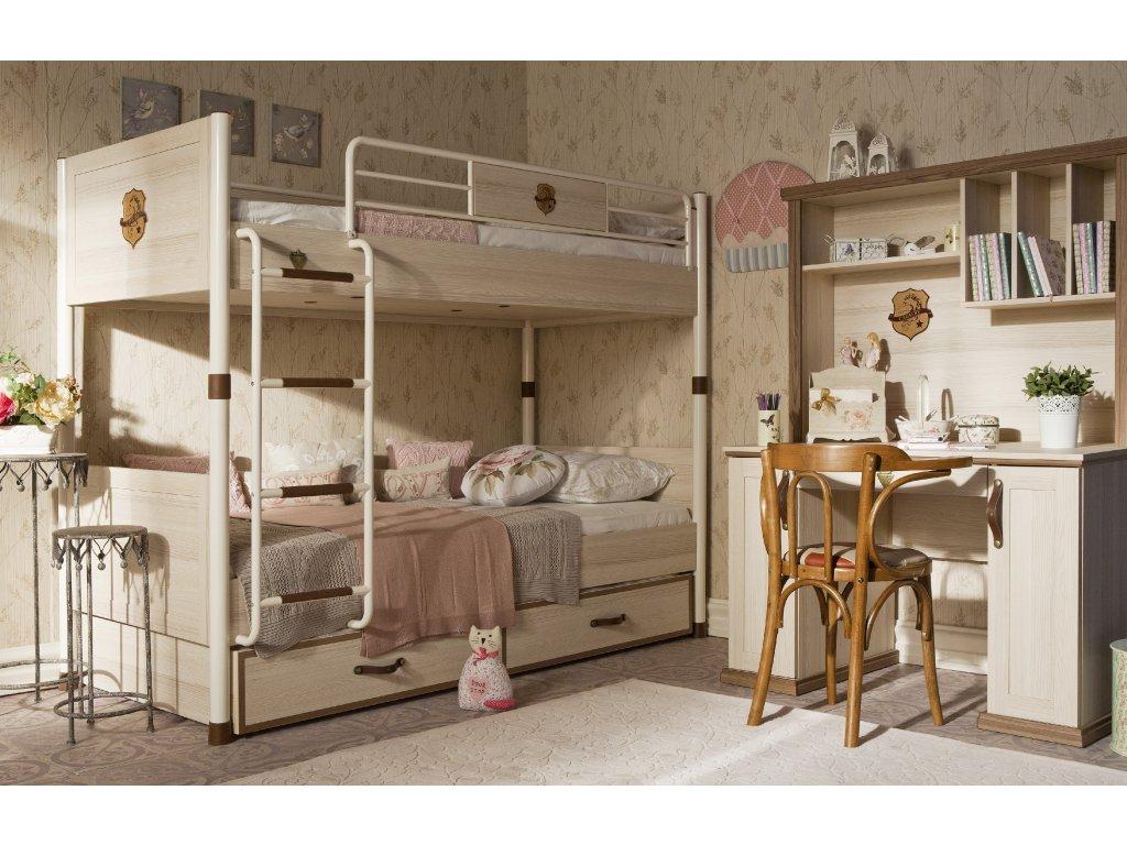 29e6266c2ed7 Poschodová posteľ 90x200 cm Royal - Hezký detský nábytok