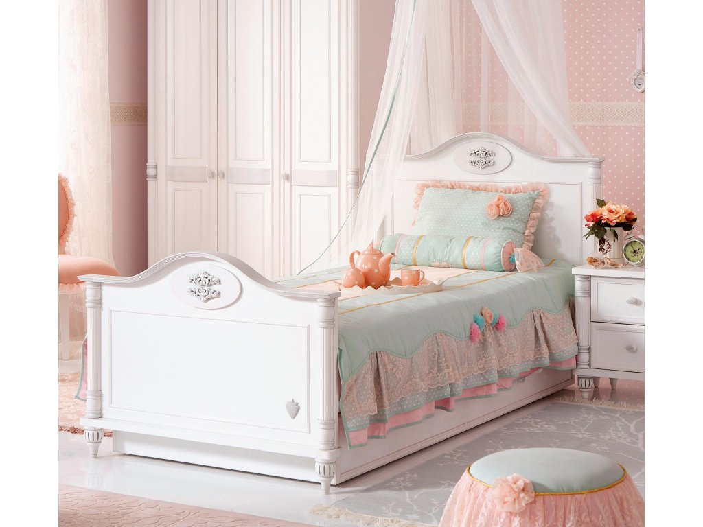 Detská posteľ 100x200 cm Romantic