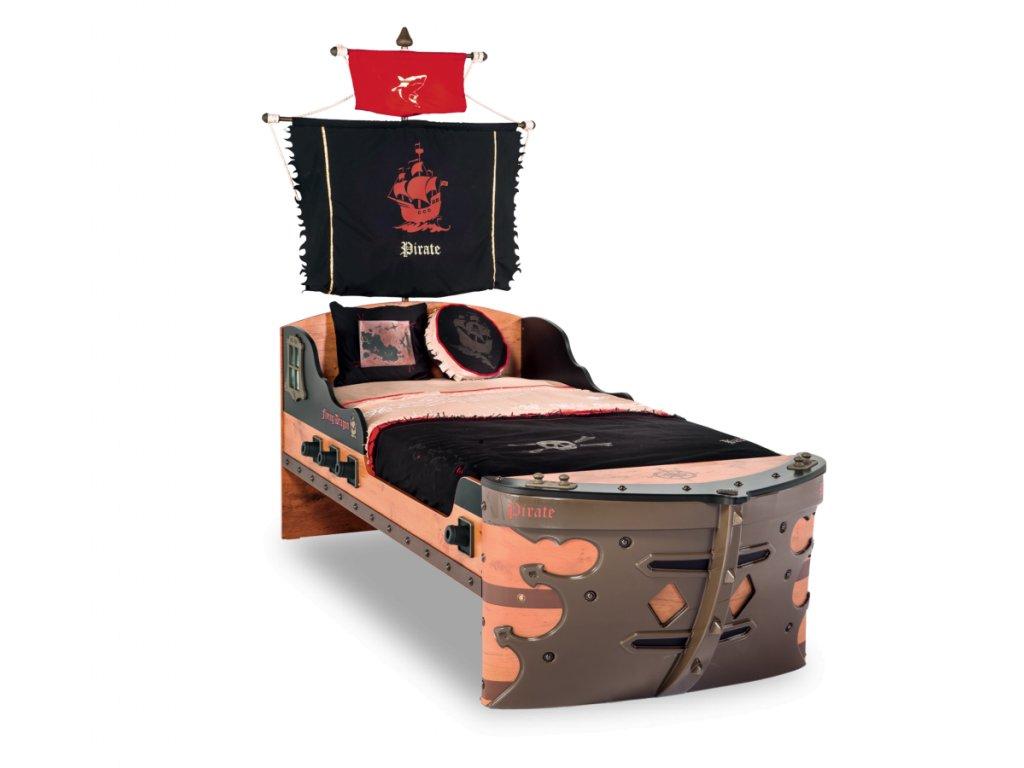 Detská posteľ loď veľká 90x190 cm Pirate
