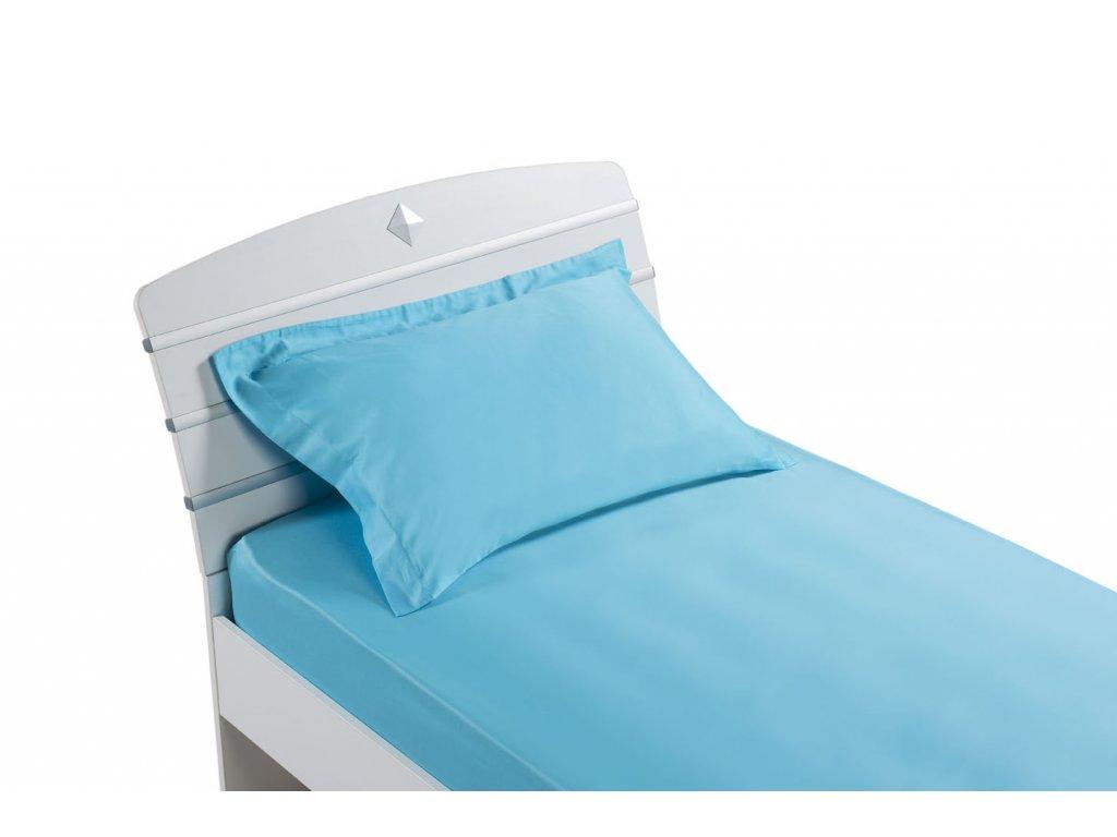 Prestieradlo modrá (90x200 cm) AKS-4239
