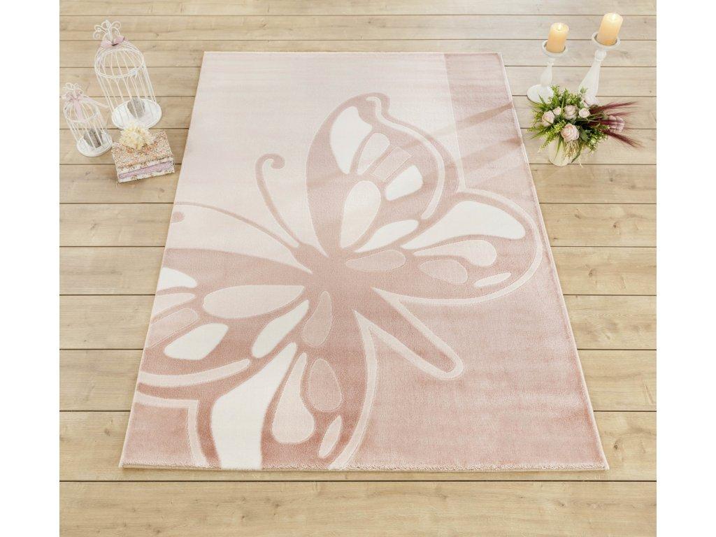 Detský koberec Butterfly 133x190 cm
