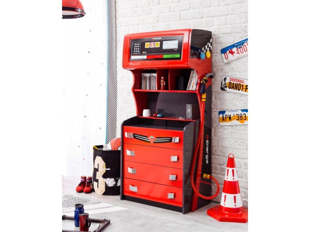 d4d47b0038f9 Detská komoda pumpa Champion Racer - Hezký detský nábytok