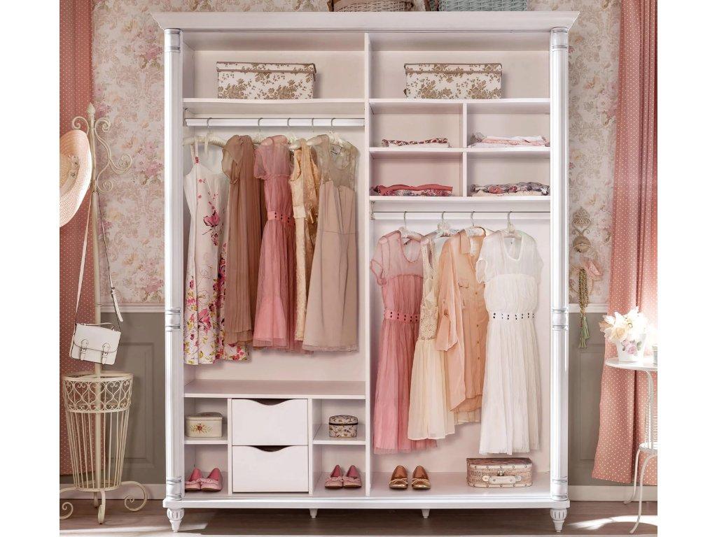 Študentská šatníková skriňa s posuvnými dverami Romantic
