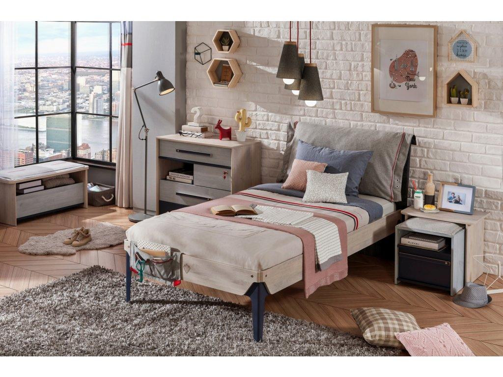 Študentská posteľ 100x200 cm Trio