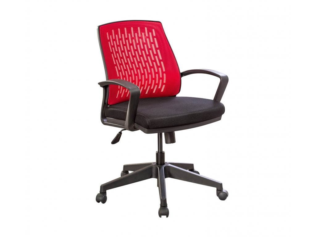 Študentská stolička na kolieskach Comfort červená