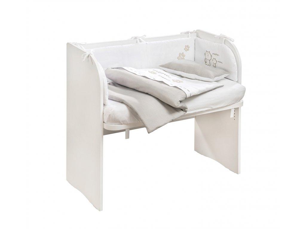 Postieľka k posteli biela SET