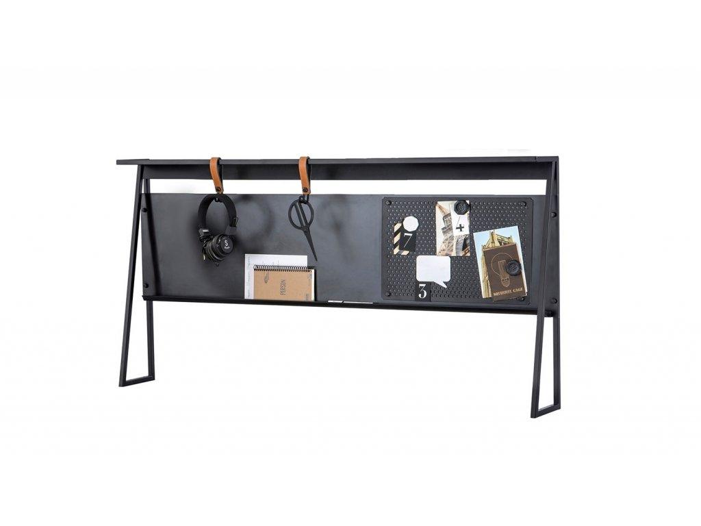 Nástavec na písací stôl Dark Metal