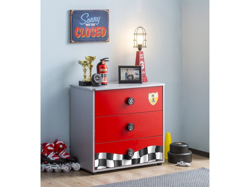 35db479f9609 Detská postel  auto 90 x 190 cm Racecup Friend - Hezký detský nábytok