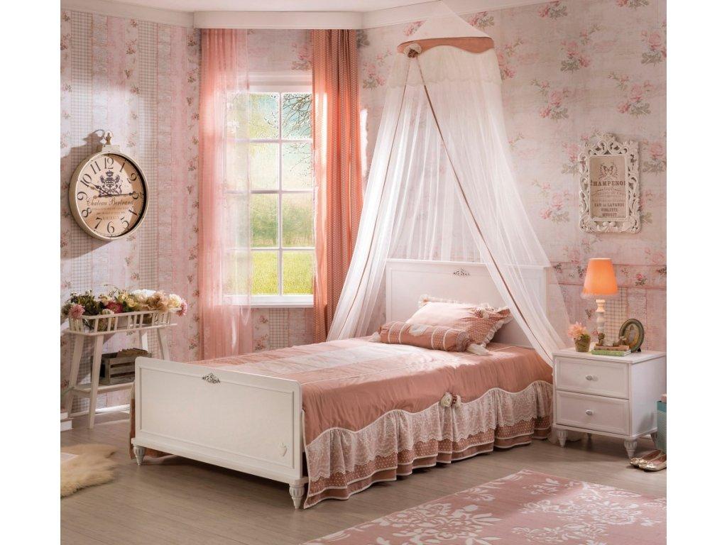 Študentská posteľ 120x200 cm Romantica