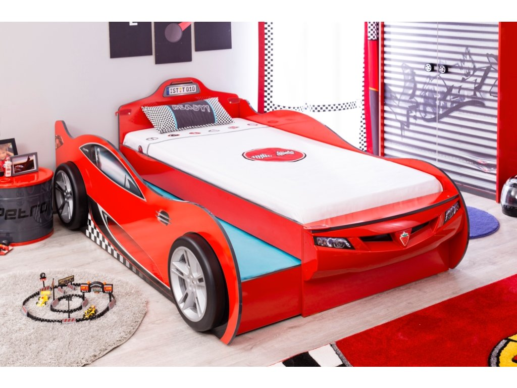 7bea0f09811e Detská posteľ auto 90x190 cm Coupe Friend čierna - Hezký detský nábytok