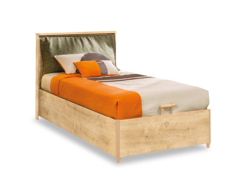 Študentská postel' s úložným priestorom 100x200 cm Mocha