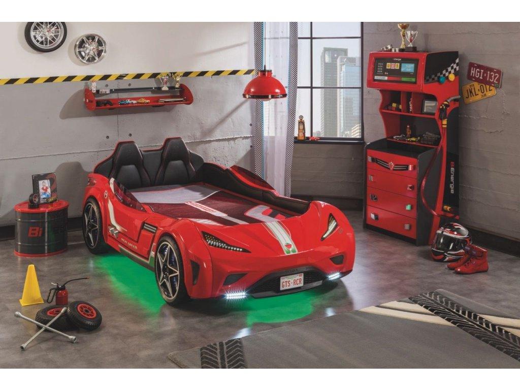79e57627e77c Detská posteľ auto 100x190 GTS červená - Hezký detský nábytok