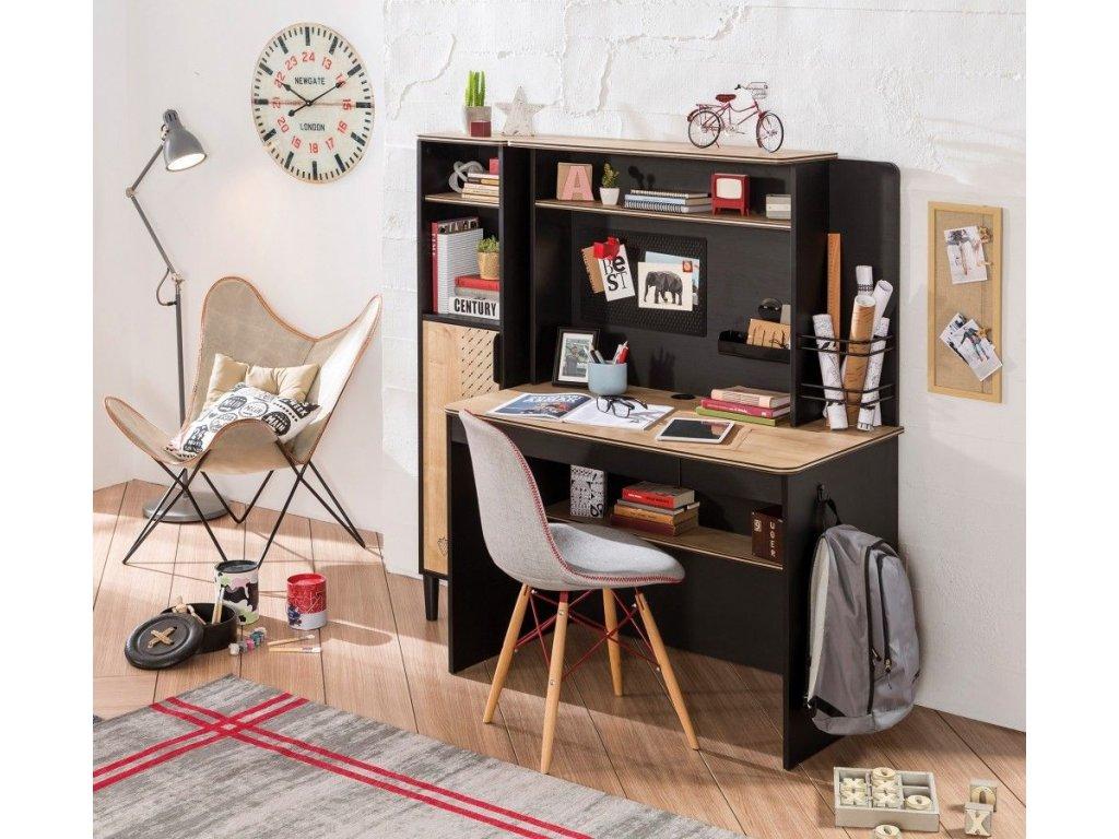 5055e15c3b246 Študentský písací stôl Black - Hezký detský nábytok