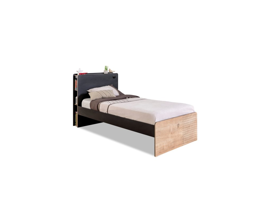 postel pre studentov black