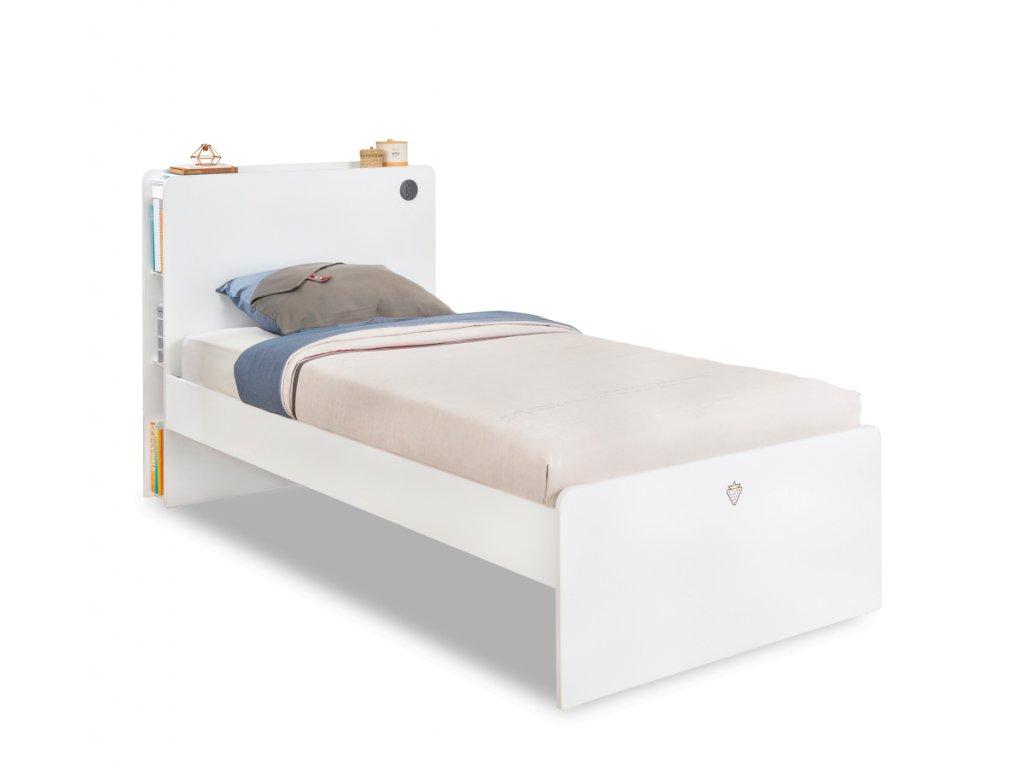 Študentská posteľ 100x200 cm White