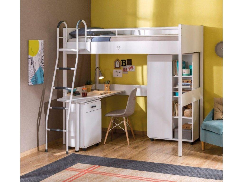 d914876f86ccb Detská knižnica White compact - Hezký detský nábytok