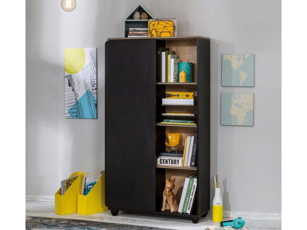 Knižnica Black compact