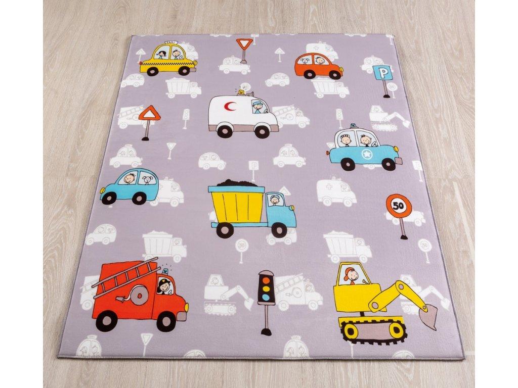 1000c6da1f62 Mäkký koberec Mini Vehicle 100x150 cm - Hezký detský nábytok