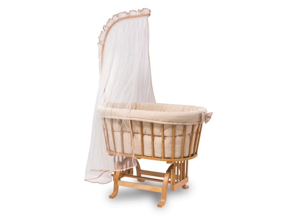 Košík pre bábätko hojdací drevený