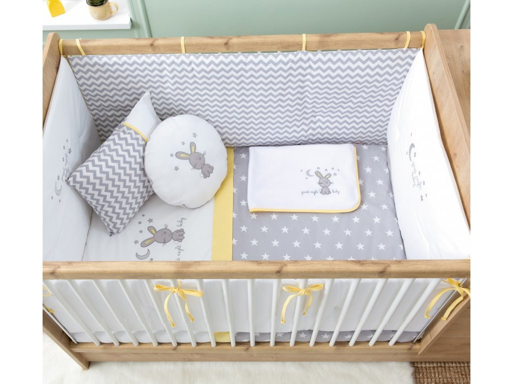 textilní set pro miminko do postylky happy night baby