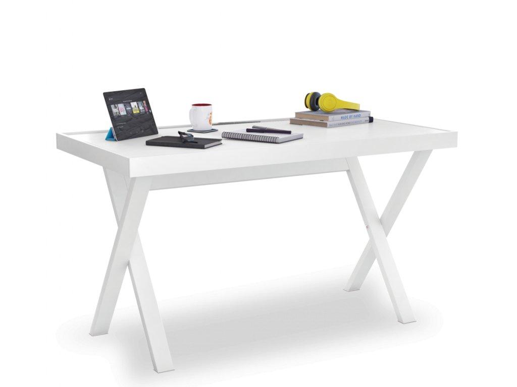 Písací stôl Young biely