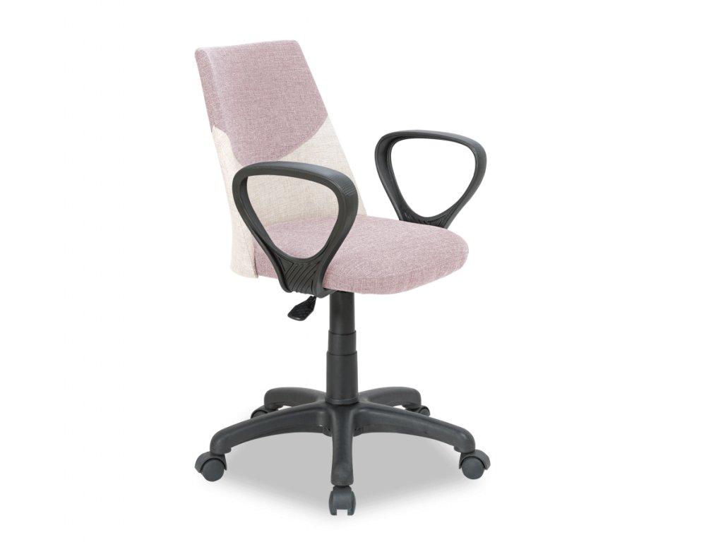 Študentská stolička Dual ružová